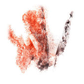 Abstract  watercolor background red,black for your design insult — Stock Photo