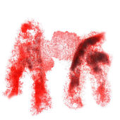 Abstract red,brown watercolor background for your design insult — Stock Photo