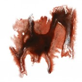 Abstract brown,red watercolor strokes, may be used as background — Stock Photo