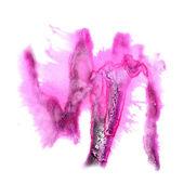 Macchia nera, rosa con acquerello vernice tratto dell'acquerello isol — Foto Stock