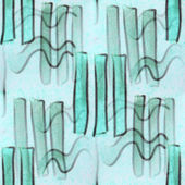 Seamless turquoise curves strips figures texture background wall — Stock Photo