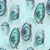 Seamless turquoise eyes texture background wallpaper pattern anc — Stock Photo