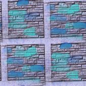 Seamless turquoise, blue squares texture background wallpaper pa — Stock Photo