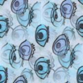 Seamless turquoise, purple eyes texture background wallpaper pat — Stock Photo