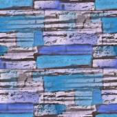 Seamless blue, dark turquoise bricks texture background wallpape — Stock Photo