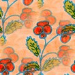 Seamless  texture orange leaves watercolor  flowers  wallpaper — Stock Photo #71194025