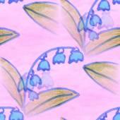 Seamless  texture  blue bells watercolor flowers  wallpaper — Stock Photo