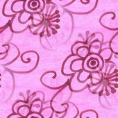 Seamless  texture purple leaf watercolor  flowers wallpaper — Foto de Stock