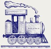 Wild West steam locomotive — Stock Vector