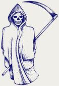 Hand inked grim reaper — Stock Vector