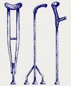 Set crutches — Stockvector
