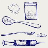 Strzykawka narkotyków — Wektor stockowy