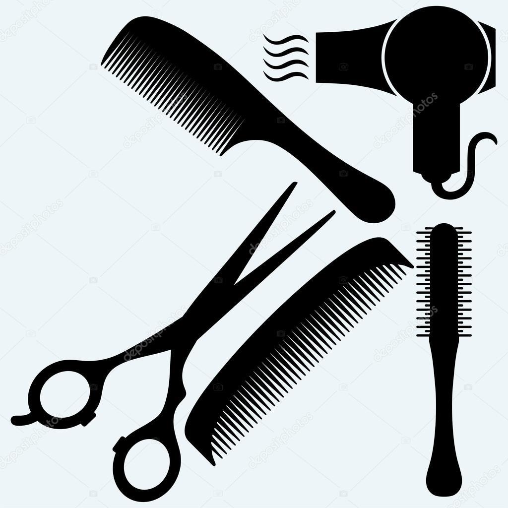 ciseaux peigne cheveux et s che cheveux image vectorielle kreativ 91160360. Black Bedroom Furniture Sets. Home Design Ideas