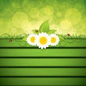 Green eco frame — Vettoriale Stock