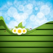 Green eco frame — Stock Vector