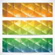 Triangular banners — Stock Vector #69816993