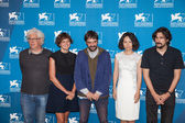 Ron Mann, Alice Rohrwacher, Razvan Radulescu, Vivian Qu Lisandro Alonso, Alberto Barbera — Stock Photo