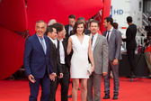 Alberto Barbera, Anton Elchin, Michael Almereyda, Milla Jovovich and Ethan Hawke — Stock Photo