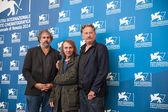Gustave Kervern, Michel Houellebecq, Benoit Delepine — Stock Photo