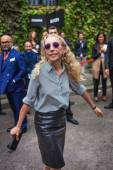 Franca Sozzani - Milan Fashion Week Spring Summer 2015 — Stock Photo