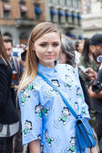 Kristina Bazan - Milan Fashion Week Spring Summer 2015 — Stock Photo