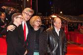 Actors Ruediger Vogler, Lisa Kreuzer, director Wim Wenders and actress Yella Rottlaender — Stock Photo