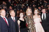 Richard Madden, Lily James, Cate Blanchett, Helena Bonham Carter, Kenneth Branagh and Stellan Skarsgard — Stock Photo