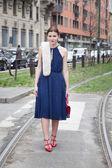 Gucci mode show in de Milaan Fashion Week — Stockfoto