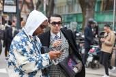 Emporio Armani show at the Milan Fashion Week — Zdjęcie stockowe