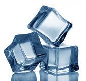 Ice cubes on white background — Stock Photo