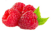 Ripe raspberries isolated on a white background. — Stock Photo