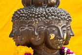 Multi headed metallic buddha staue — Stockfoto