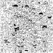 Funny caricature creatures,microbes, bacteriums — Foto de Stock