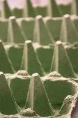 Green Egg Cartons close up — Stock Photo