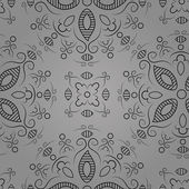 Floral pattern on a grey background — ストックベクタ