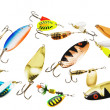 Many different fishing baits — Stock Photo #71293961