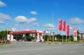 Gasoline station  Lukoil — Stock Photo