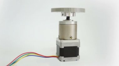 Stepper Motor Geared On End — Stock Video