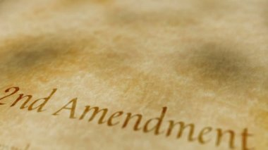 Historic Document 2nd Amendment — Stock Video