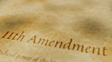 Historic Document 11th Amendment — Stock Video