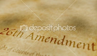 Historic Document 26th Amendment — Stock Video