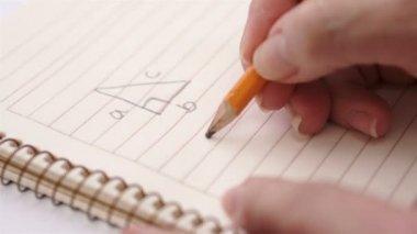 Education Geometry Pythagoras Theorem — Stock Video