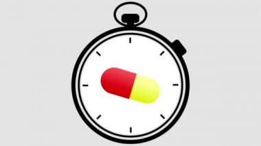 Stopwatch Medical Pill Turning — Stock Video
