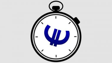 Stopwatch Euro Symbol Rotating — Stock Video