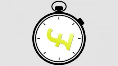 Stopwatch British Pound Symbol — Stock Video
