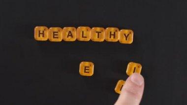 Letter Blocks Spelling Healthy Life — Stock Video