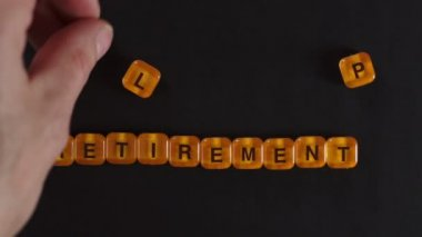 Letter Blocks Spell Retirement Plan — Stockvideo