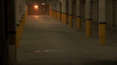 Parking Underground Entrance Zoom — Stock Video
