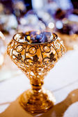 Wedding parfume  table arrangment — Stock Photo