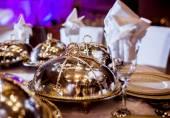 Hochzeit tischgesteck — Stockfoto